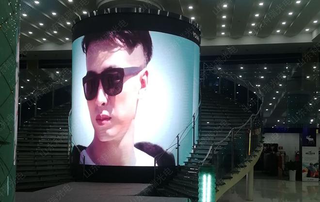 展厅圆柱型LED屏